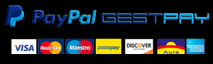 Pagamenti sicuri con carta di credito o Paypal/Secure payments with credit card or Paypal